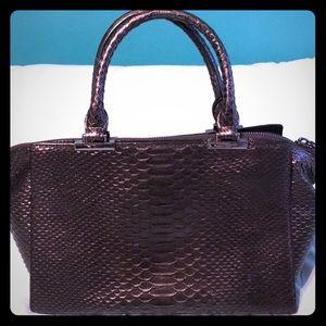 Metallic python skin Henri Bendel purse